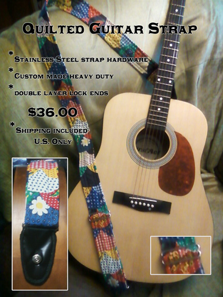 Quilted Guitar Straps